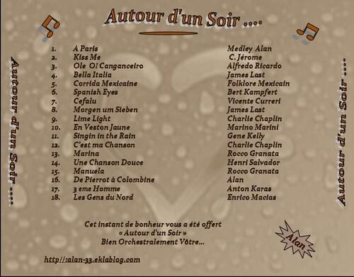 AUTOUR D'UN SOIR.....