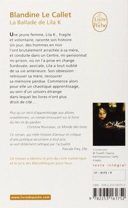 LA ballade de Lila K de Blandine de Callet