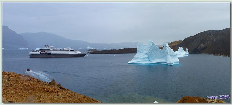 Débarquement à Akudleq - Région d'Uummannaq - Groenland