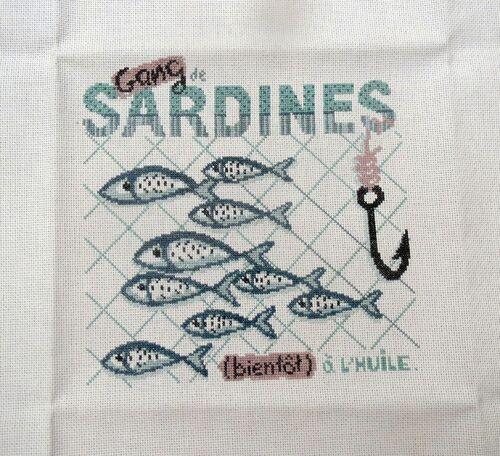 les sardines brodées