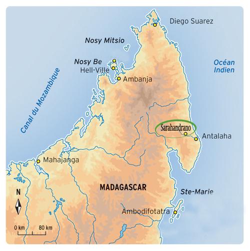 Carte Nord Madagascar
