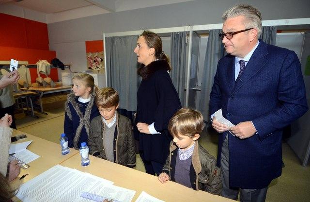 La famille royale aux élections communales