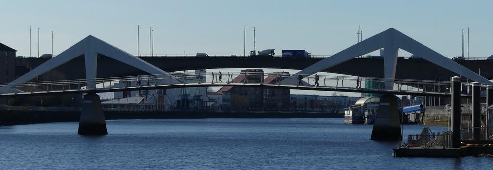 Balade le long de la Clyde à Glasgow...