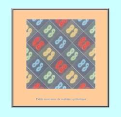 Couleur d'infini . Collage morceaux matières synthétiques