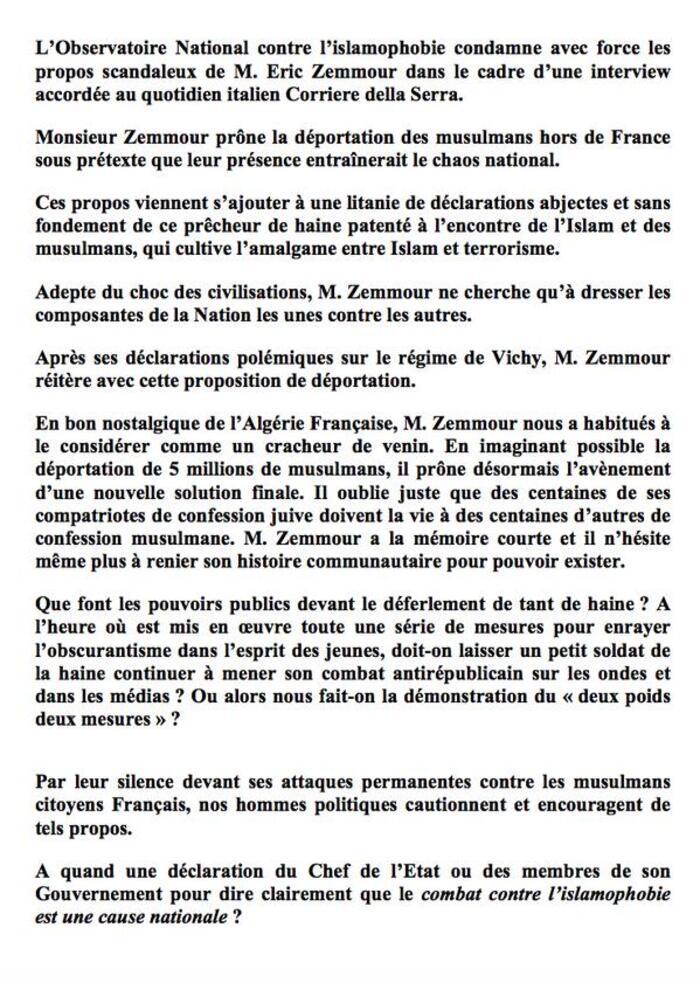 """""""Déporter 5 millions de musulmans"""": les propos de Zemmour dénoncés sévèrement par Bernard Cazeneuve, par plusieurs personnalités et un nombre considérables d'internautes sur Twitter"""