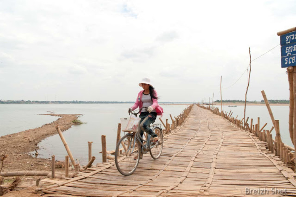 pont en bambou Kampong Cham