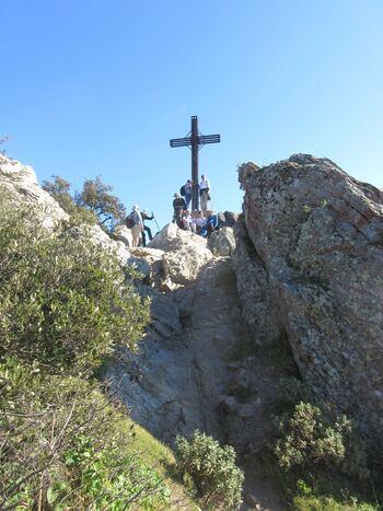 La croix au sommet du Fenouillet