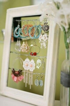 Astuces Dressing Cadre photo rangement bijoux DIY