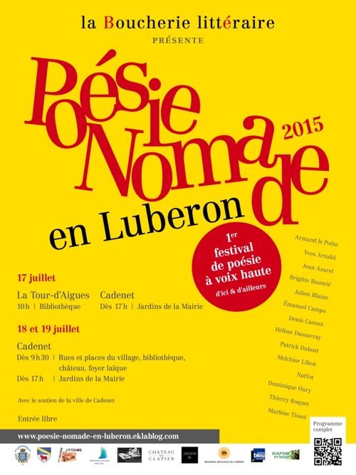 "Festival ""Poésie nomade en Luberon"" - Juillet 2015"