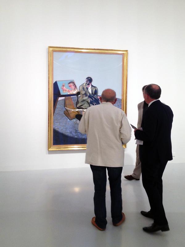 Francis Bacon peinture musée Fabre Montpellier, messieurs Bioulès et Hilaire