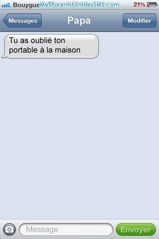 SMS de blondes !