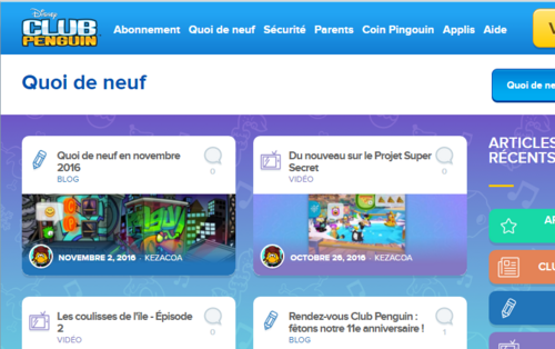Pas de mascottes sur les serveurs français