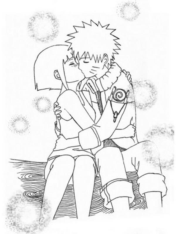 Coloriage naruto et hinata blog de kushina - Dessin naruto manga ...