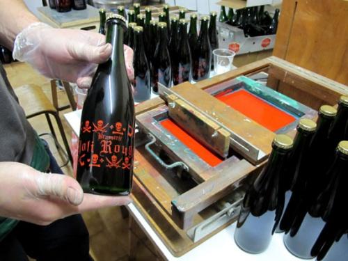 photos de la sérigraphie des bouteilles