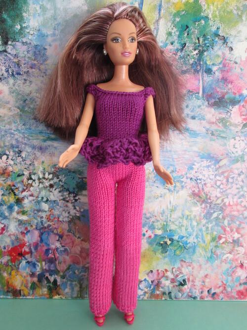 Tops, tuniques, leggins et pantalons pour barbie
