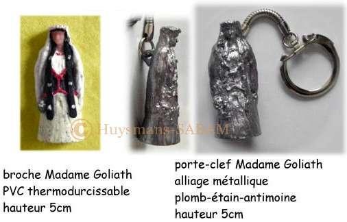 Objets souvenir de la Ducasse d'Ath: Géant Madame Goliath - Arts et sculpture: sculpteur designer