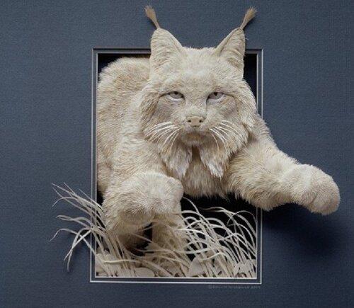 Calvin Nicholls et son zoo en papier 3D