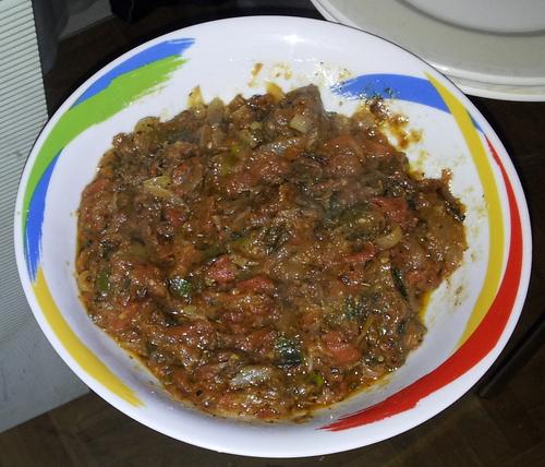 Manioc et sa sauce tomate_La cuisinette de Laurette