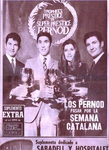 Novembre 1969 / Sheila et les champions cyclistes 1969