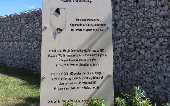 Argenteuil : la stèle du militant anticolonialiste Maurice Audin vandalisée