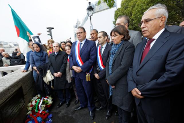 Commémoration du massacre des Algériens du 17 octobre 1961, aujourd'hui 17 octobre 2014 à Paris