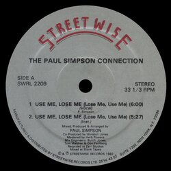 The Paul Simpson Connection - Use Me, Lose Me