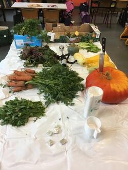 Notre soupe avec nos légumes