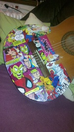 CUSTOMISATION de GUITARE avec COLLE DE RELIURE