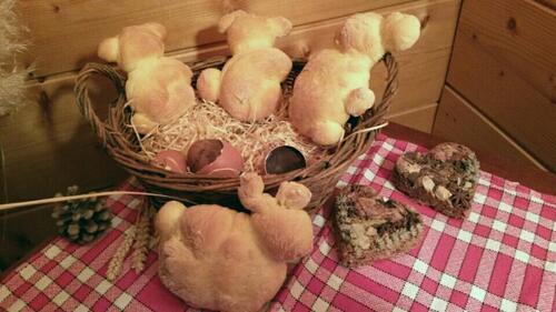 lapin brioché et œuf de Pâques