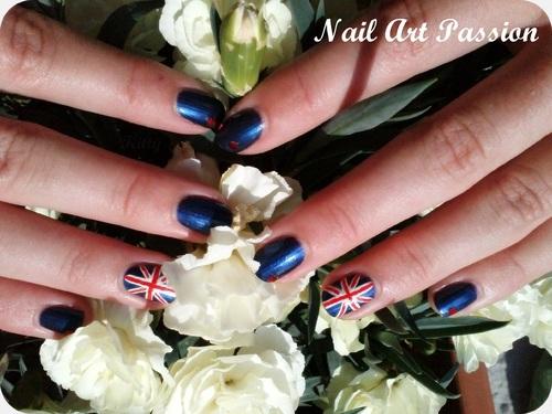 Nail art England : accent nail  !