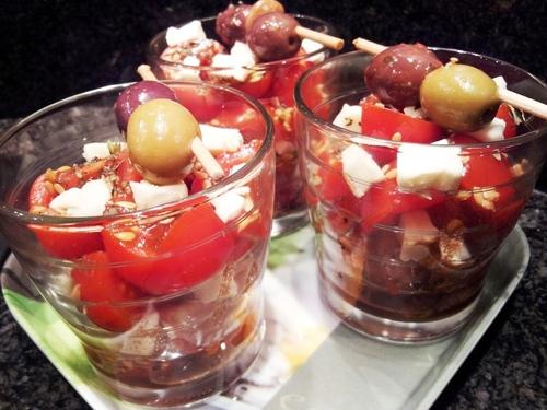 Verrines express à la tomate cerise IG bas