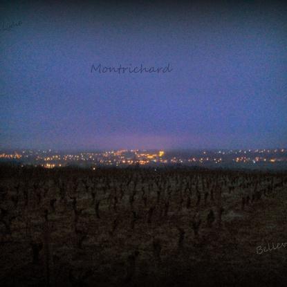 Montrichard (41) vu des vignes à la tombées de la nuit - 10 Décembre 2015