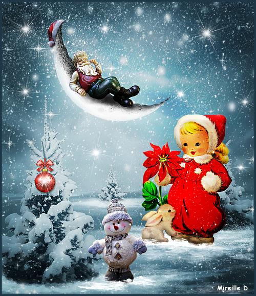 Repos du Père Noël (Photomontage)