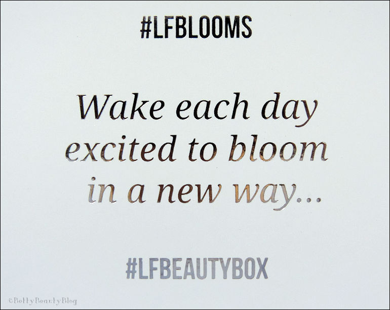 Lookfantastic box #LFBLOOMS