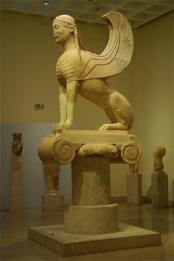 Musée de Delphes - sphinx des Naxiens
