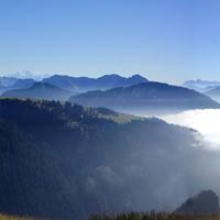 Panorama sur le Chablais et le Mont-Blanc - Bernex - Col de Pelluaz - Octobre 2015