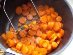 Les carottes en purée