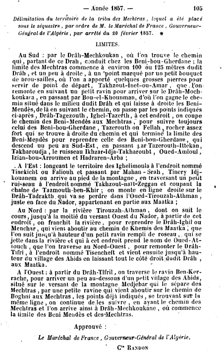 Mechtras sous le séquestre / 1857.