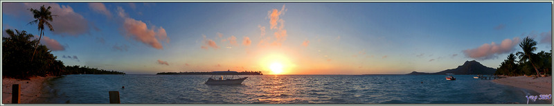 Le lagon de Maupiti au coucher de soleil - Pension Kuriri - Maupiti - Polynésie française