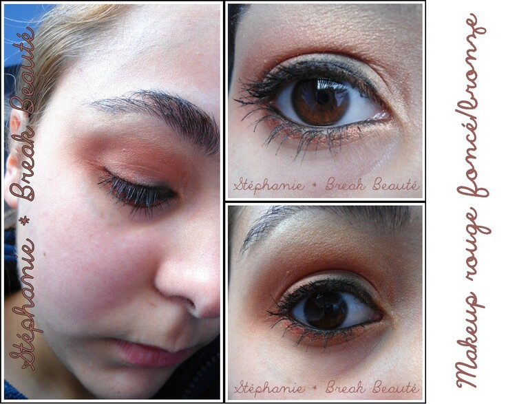 ღ Makeup rouge foncé/bronze