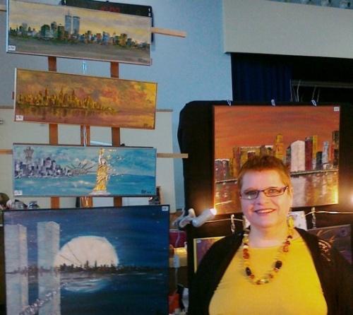 Exposition des Oeuvres et des créations de Gratienne VOISIN ELOY au Marché de Noël  2012 à CORBELIN