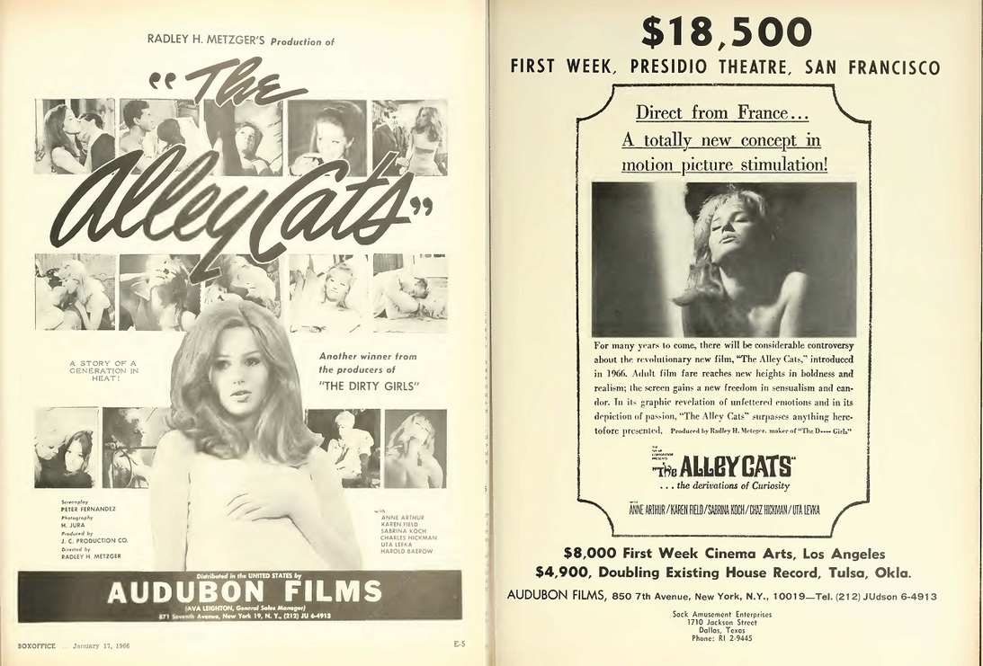 THE ALLEY CATS BOX OFFICE USA 1966