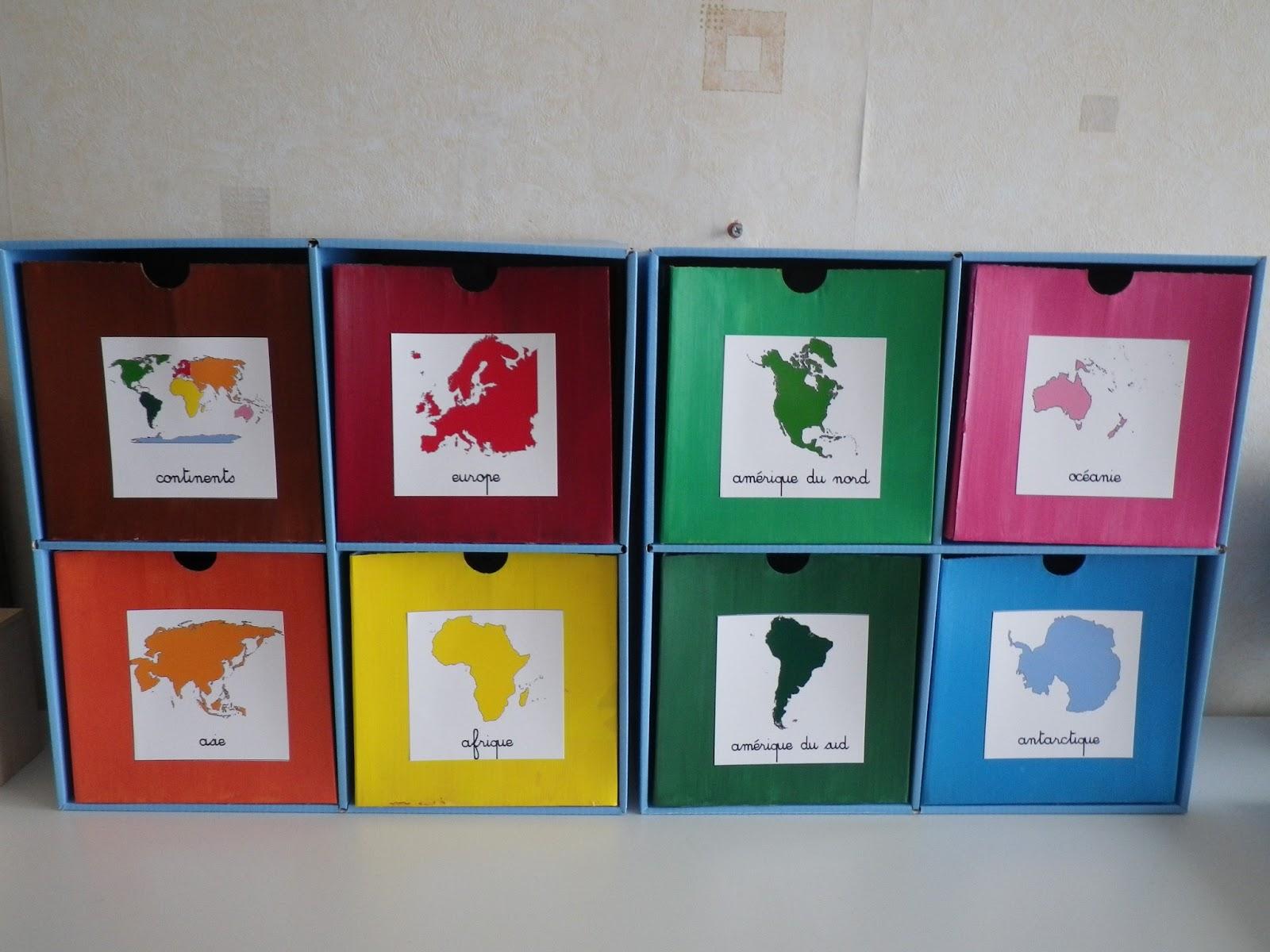 Bien-aimé Ateliers de géographie : le monde : les continents - La classe d'Eowin TF55