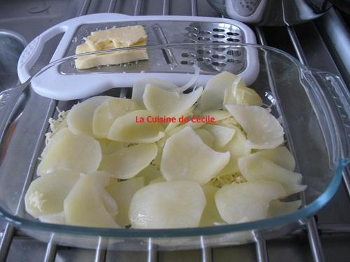 Gratin de pommes de terre au céleri-rave