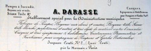 Constitution d'une subdivision de sapeurs-pompiers à Baigneux  en 1870
