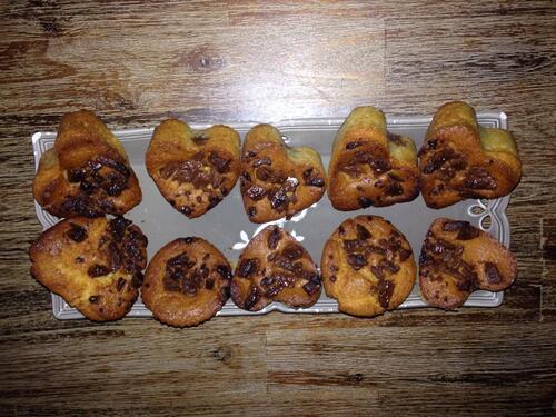 Muffins au pralininitella et chunks de chocolat