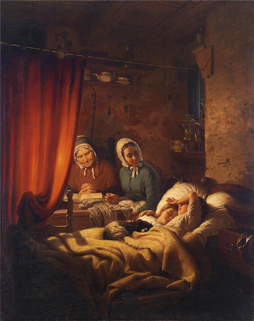 艺术家约翰格奥尔格冯迈耶不来梅(1813年至1886年)德国画家