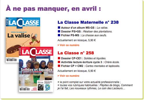 La classe - avril 2015