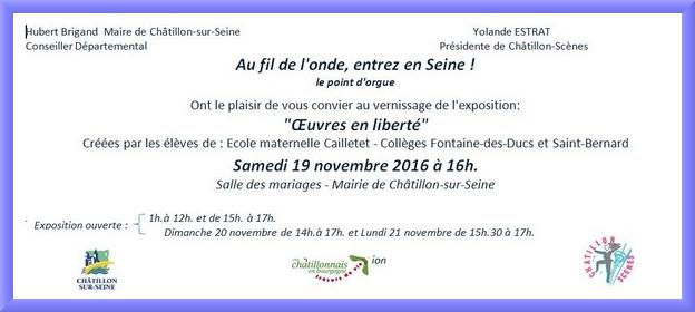 """Une exposition de travaux d'élèves sur le thème """"Au fil de l'eau entrez en Seine !""""aura lieu ce week-end..."""