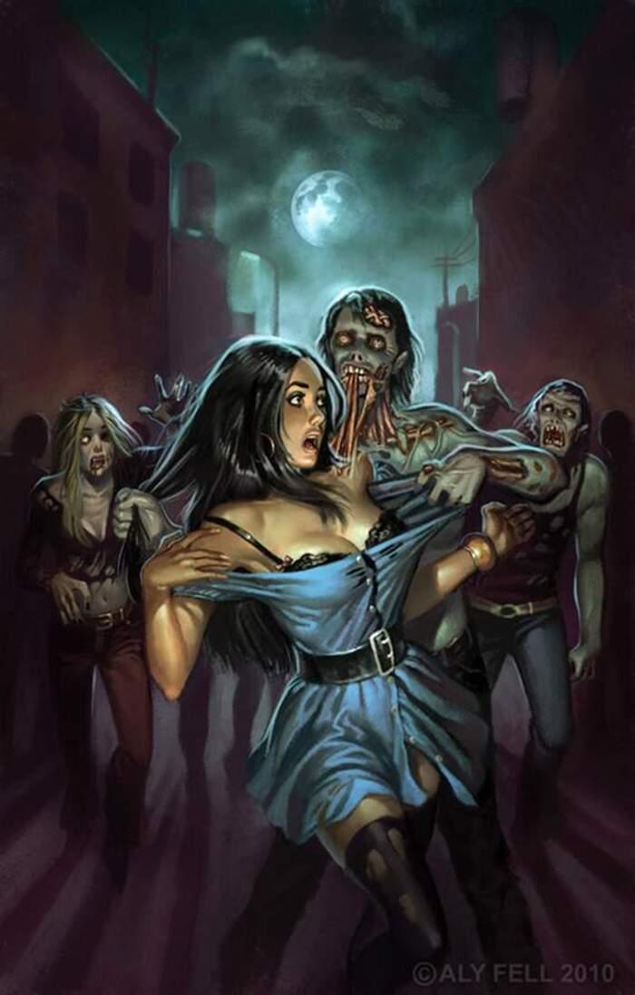 Pleine lune au Pays des Zombies